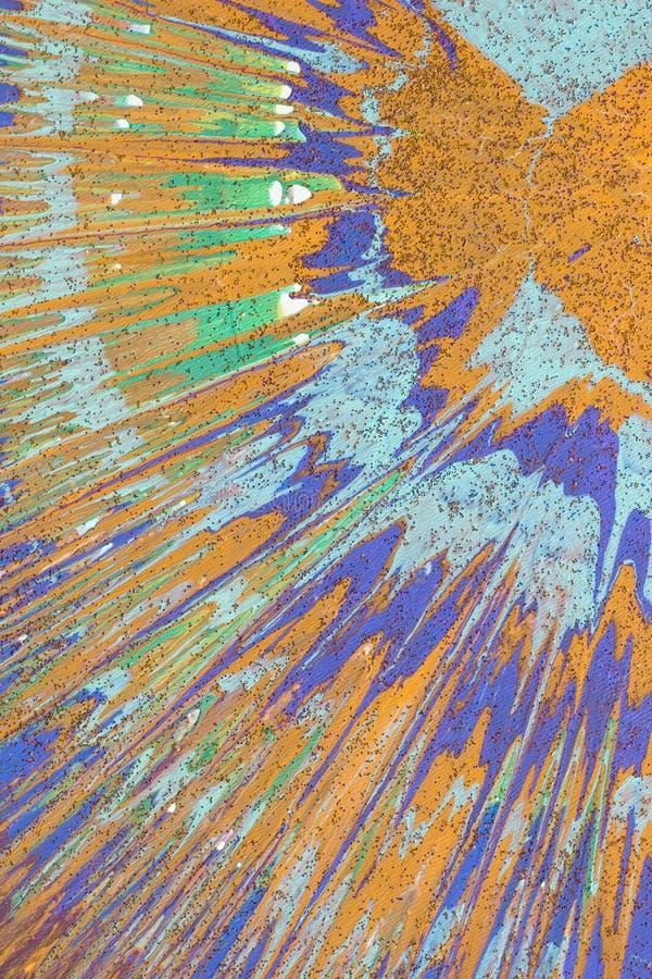 Buntes Zeichnungsacryl auf Segeltuch Abstraktion vektor abbildung
