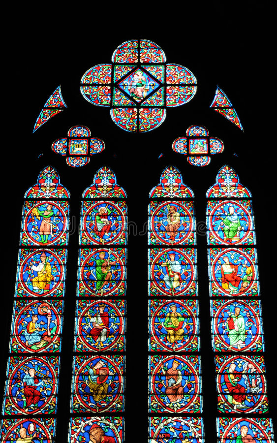 Download Buntglas stockfoto. Bild von senkrecht, französisch, gefärbt - 9089532