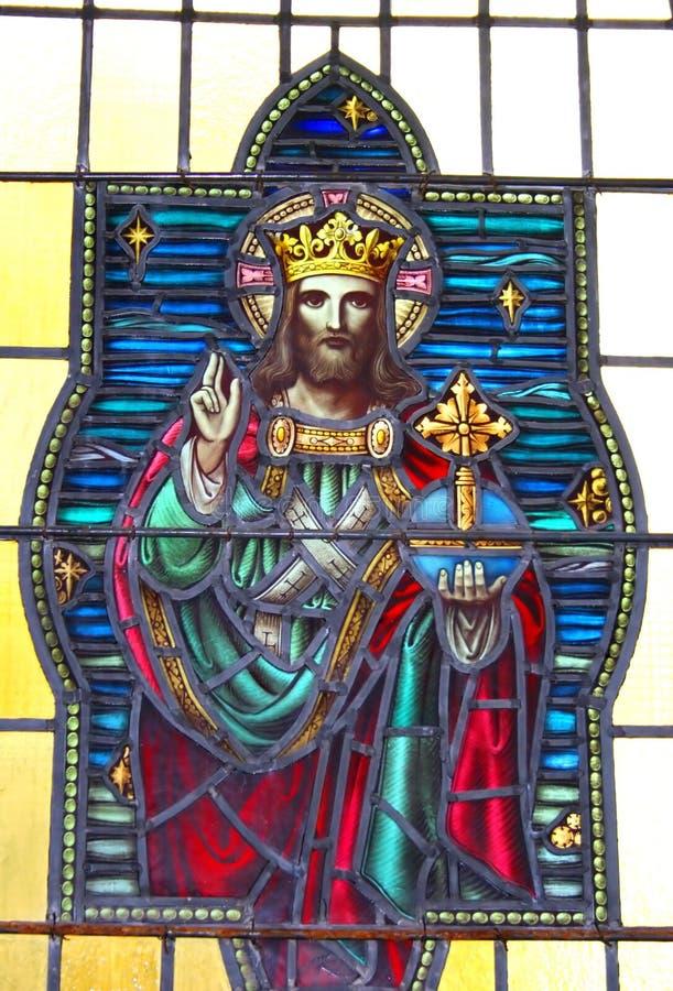 Buntglas Christ lizenzfreies stockfoto