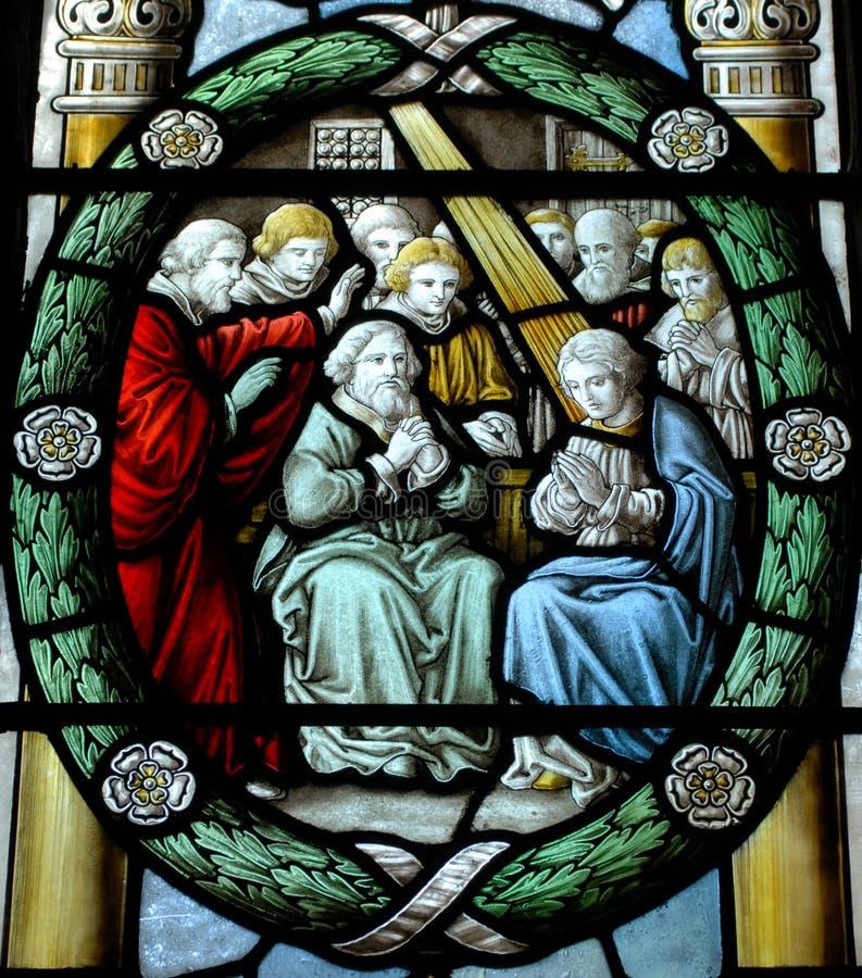 Buntglas-Fenster stockbild