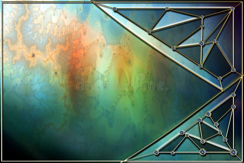 Buntglas-Hintergrund-Plan vektor abbildung