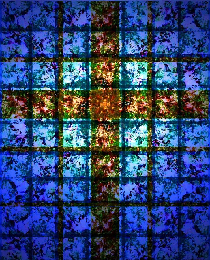 Buntglas-Kreuz lizenzfreie abbildung
