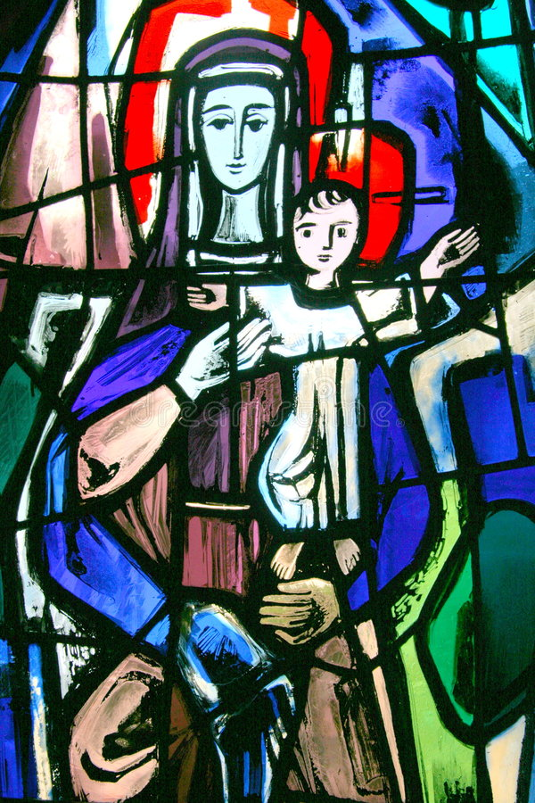 Buntglas Mary lizenzfreie stockfotografie