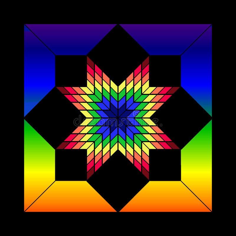 Buntglas-Stern lizenzfreie abbildung