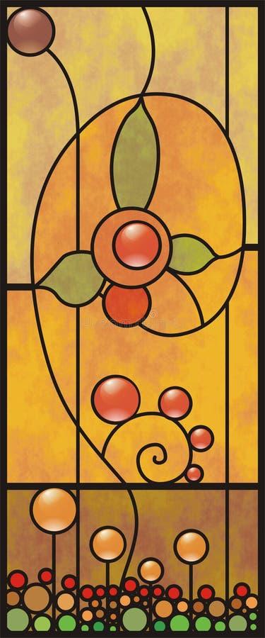 Buntglasfenster eine Blumenverzierung stock abbildung