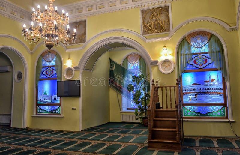 Buntglasfenster, erste Ufa-Kathedralen-Moschee stockfotografie