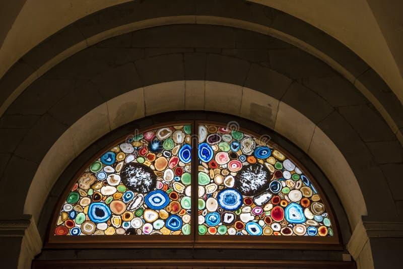 Buntglasfenster Siegmar Polke Zürich stockfoto