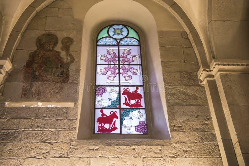 Buntglasfenster Siegmar Polke Zürich stockbild