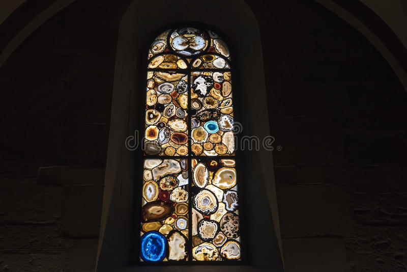Buntglasfenster Siegmar Polke Zürich lizenzfreies stockfoto
