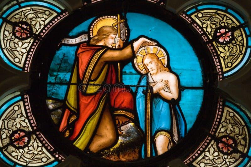 Buntglasfensterdetail stockfoto