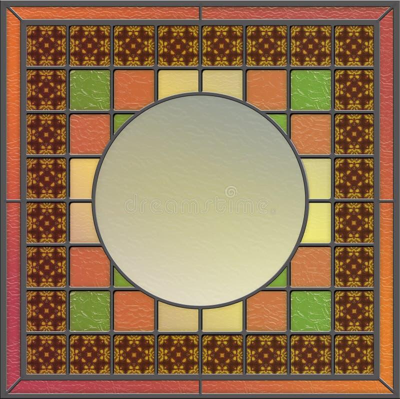 Buntglaspanel mit leerem Platz für Inhalt lizenzfreie abbildung