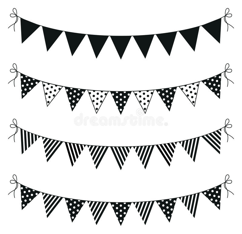 Bunting royaltyfri illustrationer