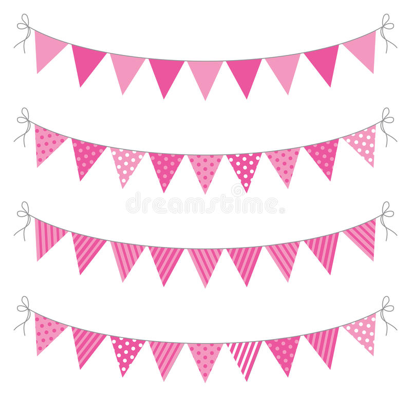 Bunting stock illustrationer