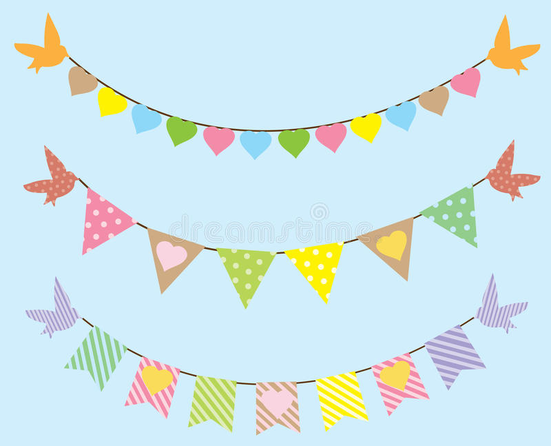 bunting vektor illustrationer