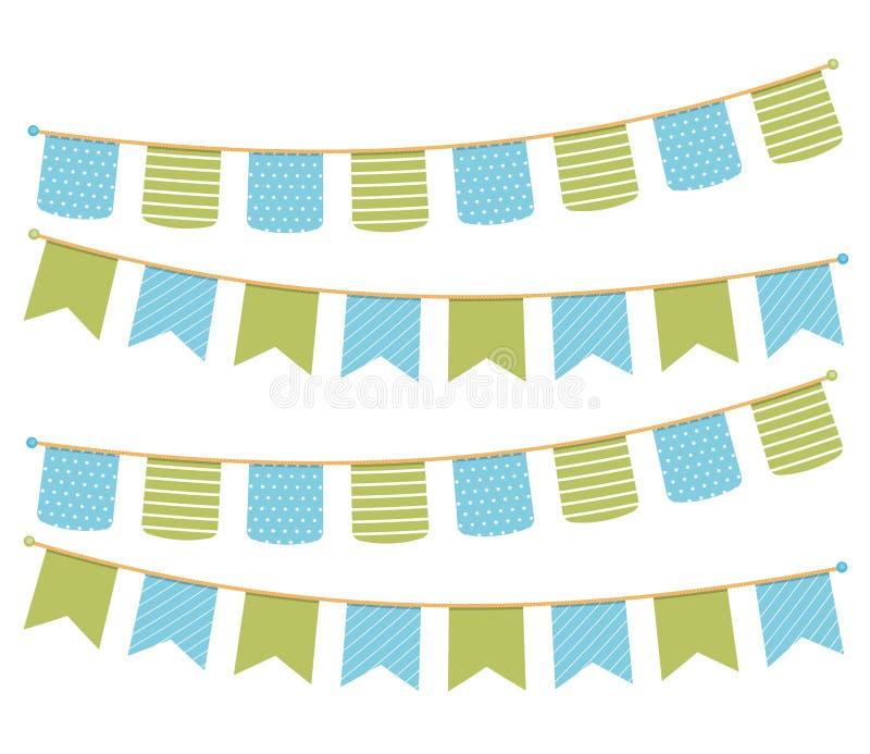 bunting royaltyfri illustrationer