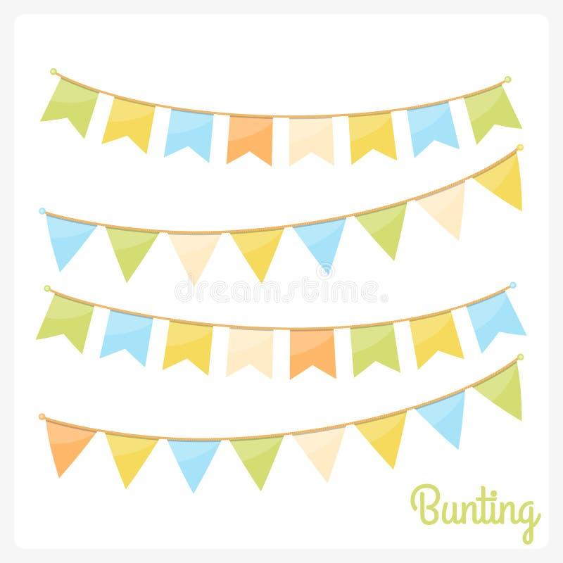 bunting stock illustrationer