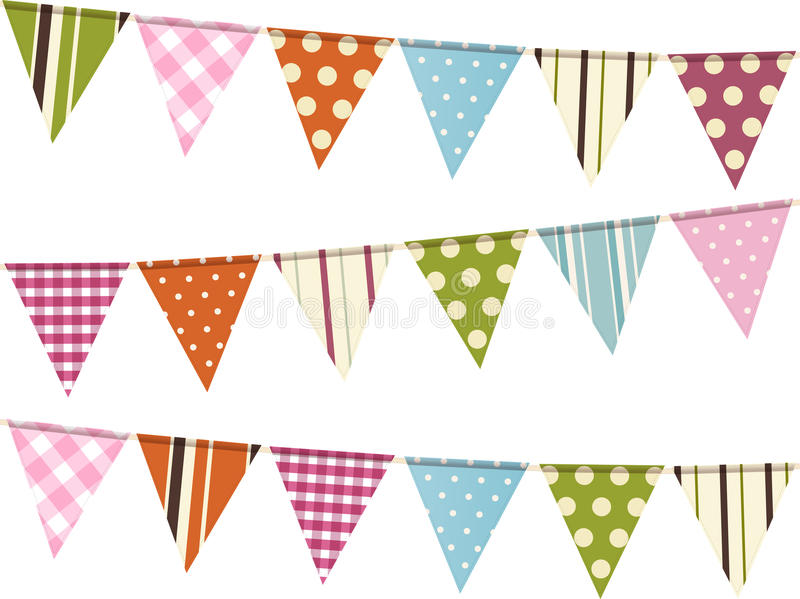 Download Bunting Background On White Stock Vector - Image: 24530378