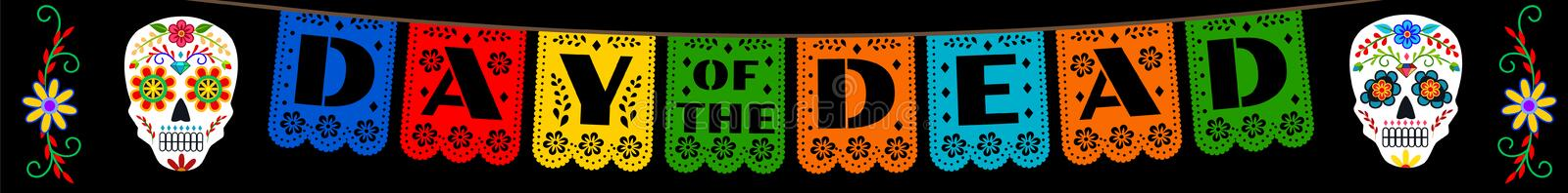 Bunting for Day of the Dead royalty free illustration