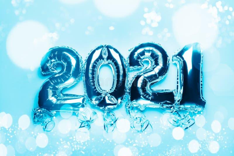 Bunting de ballons, Nouvel An 2021 photo stock