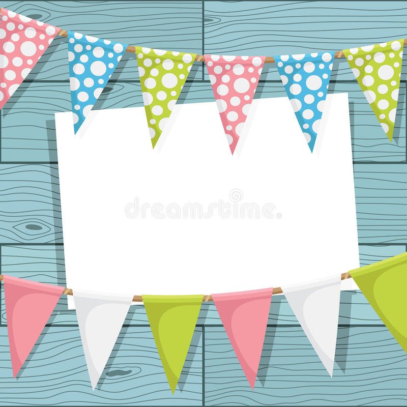 Bunting decoration vector illustration