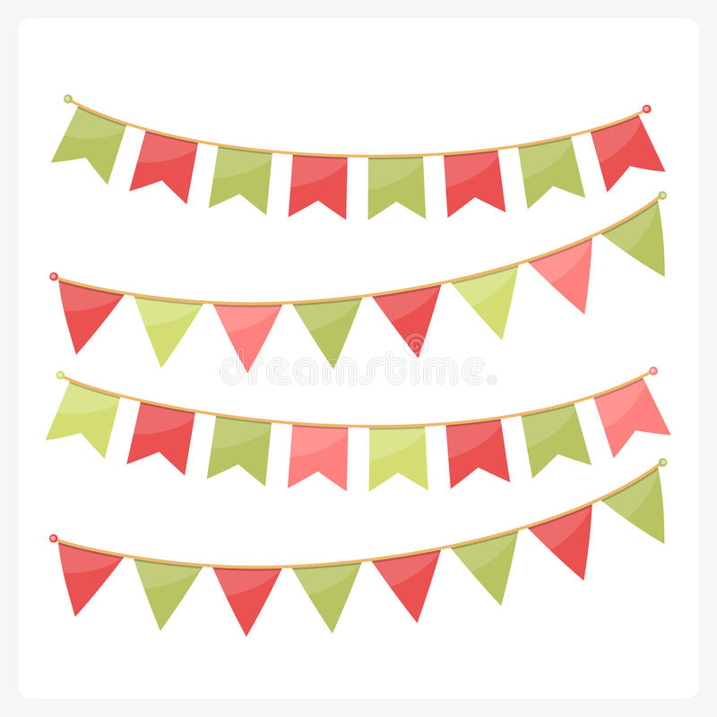 Bunting för jul royaltyfri illustrationer