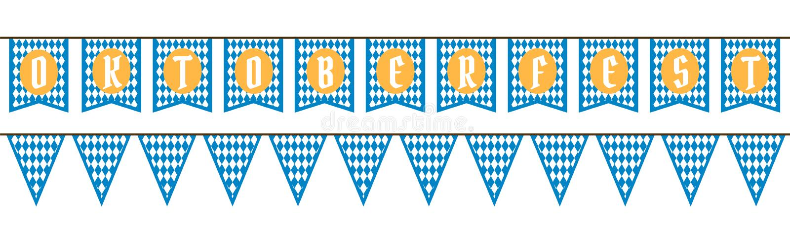 Bunting för Oktoberfest stock illustrationer