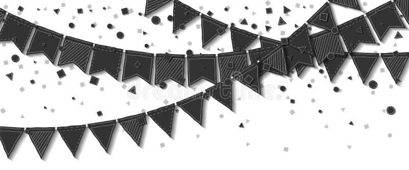 Bunting flaggor royaltyfri illustrationer