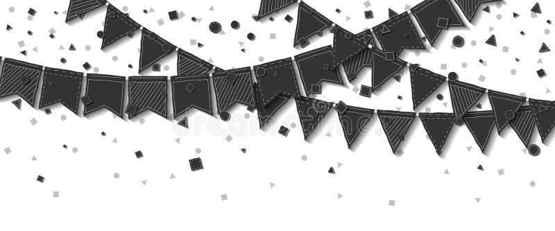 Bunting flaggor vektor illustrationer