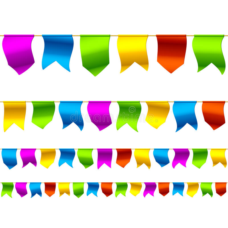 Bunting flags. Seamless (horizontally) vector illustration of bunting flags royalty free illustration