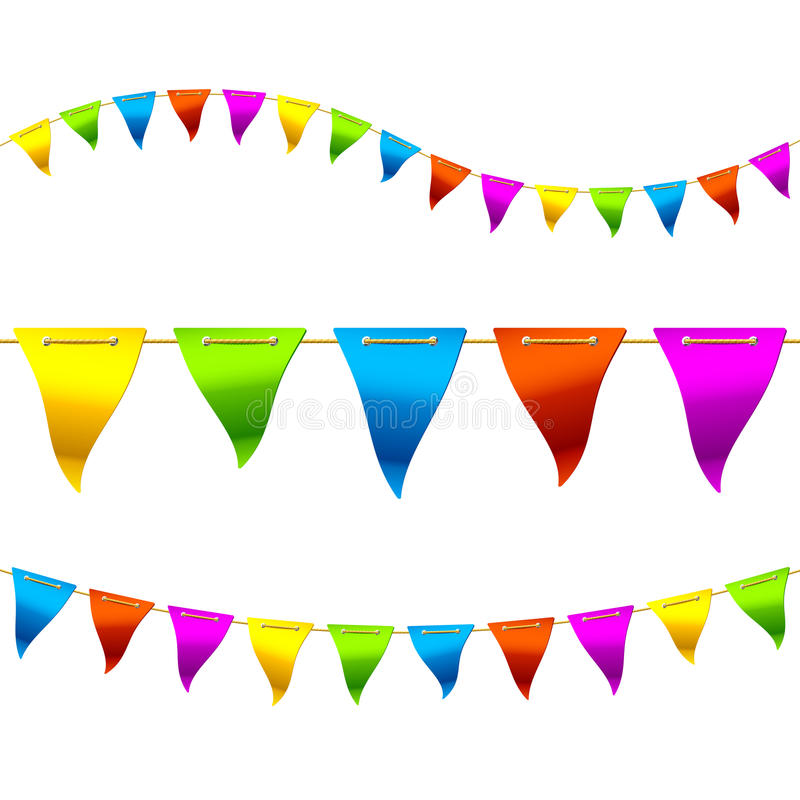 Bunting flags. Colorful bunting flags vector illustration royalty free illustration
