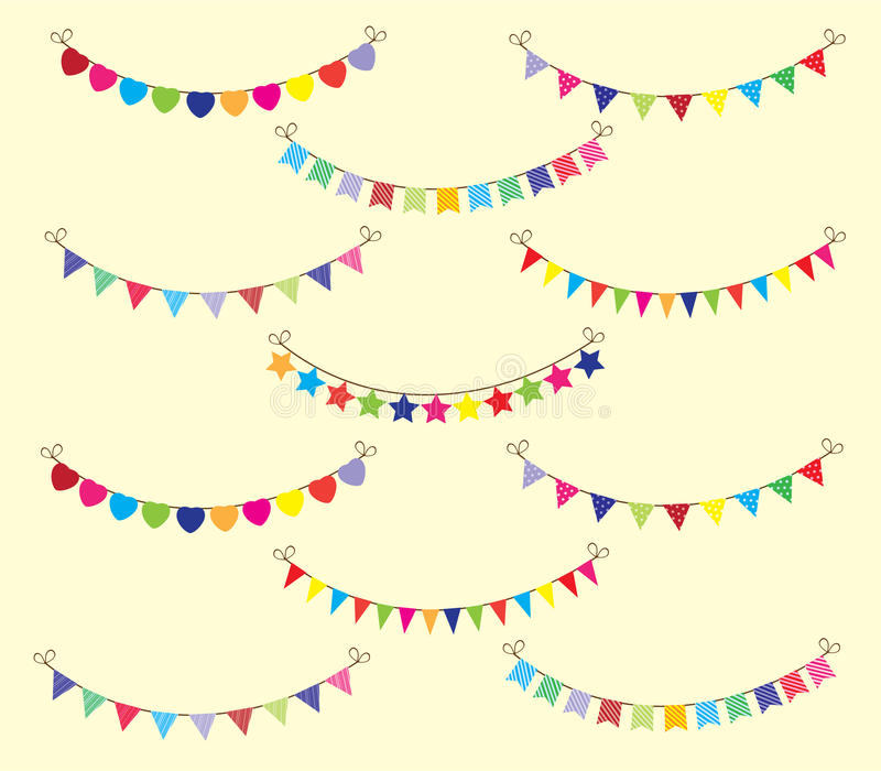 Bunting. Illustration of background with bunting stock illustration