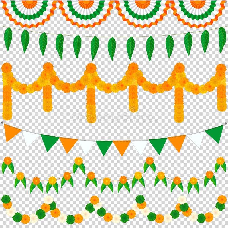 Bunting Indische reeks vector illustratie