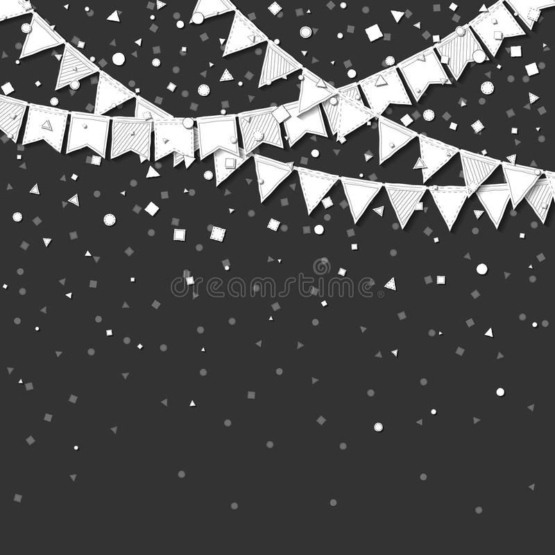 Bunting parti vektor illustrationer
