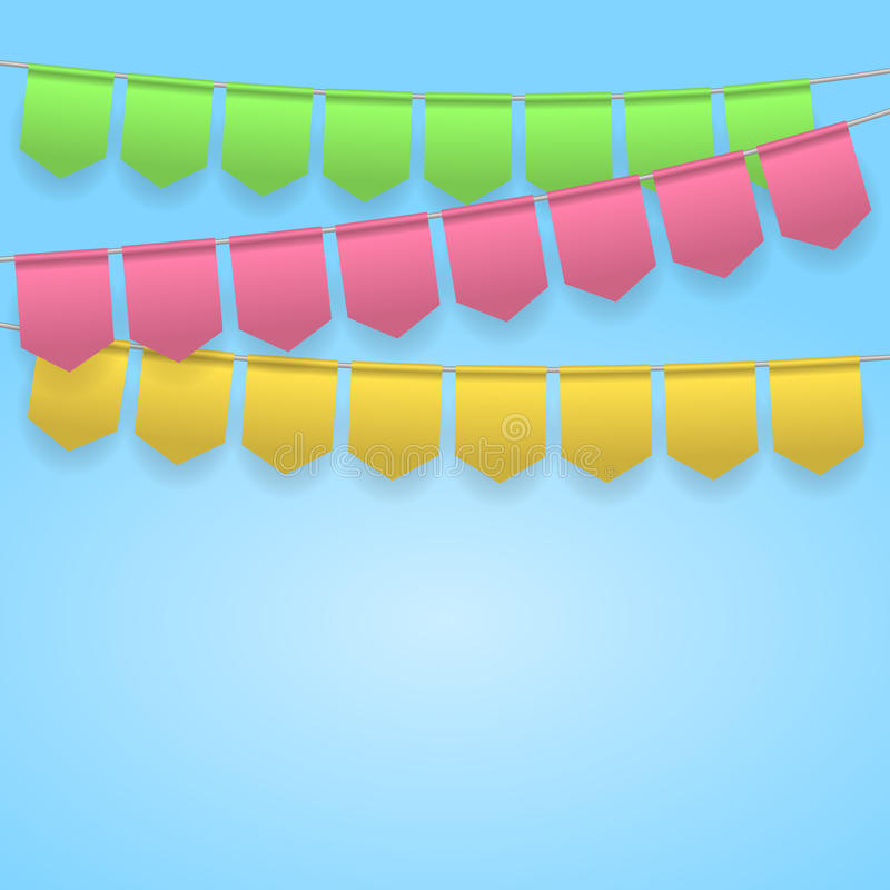 Bunting party celebration. Festive background with colorful flags. Holiday, celebration party. Vector illustration vector illustration