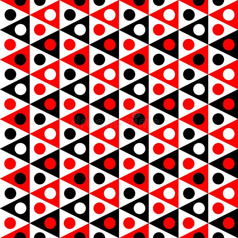 Bunting sjunker sömlös textur för bollar royaltyfri illustrationer