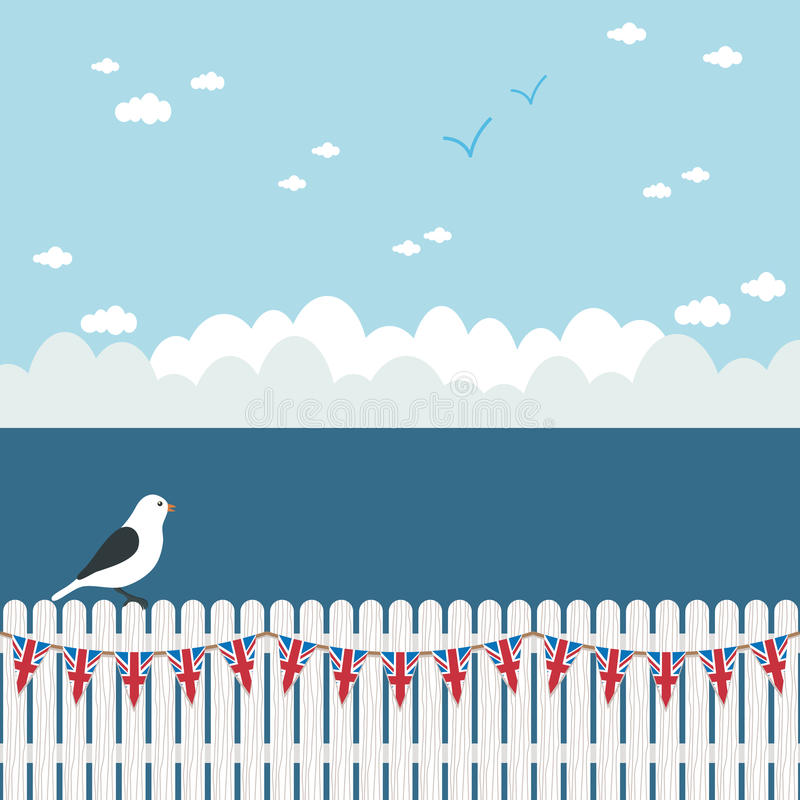 bunting staketpostering vektor illustrationer