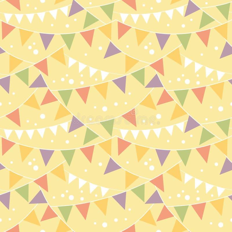 Bunting van partijdecoratie Naadloos Patroon stock illustratie