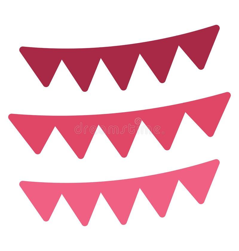 Buntings den garnering isolerade vektorsymbolen, som kan l?tt ?ndra eller redigera Buntings, garnering isolerade vektorsymbolen s vektor illustrationer
