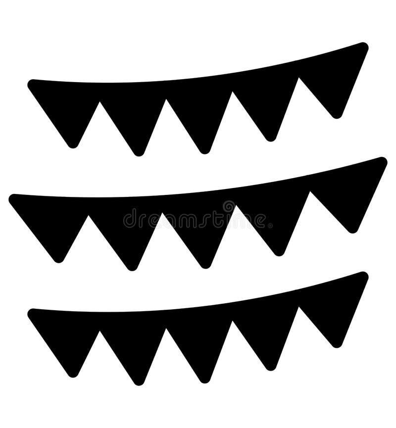 Buntings garnering isolerade vektorsymbolen som kan l?tt ?ndra eller redigera royaltyfri illustrationer