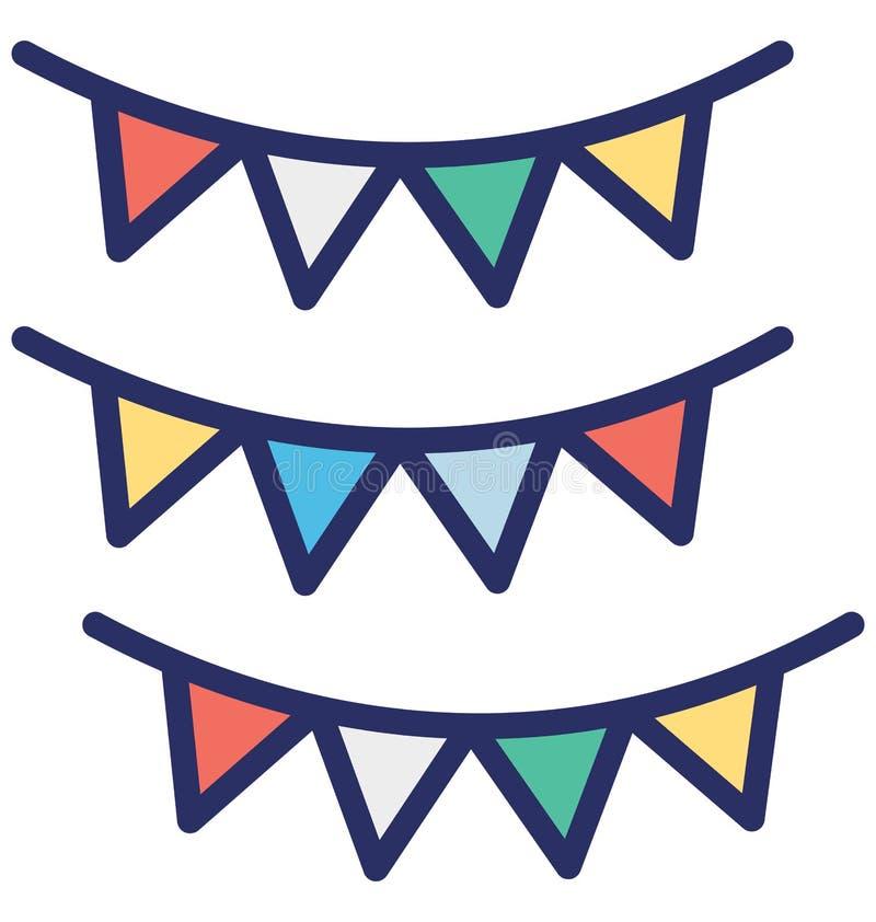Buntings isolerad vektorsymbol som kan lätt ändra eller redigera Buntings, den isolerade vektorsymbolen, som kan lätt ändra eller stock illustrationer