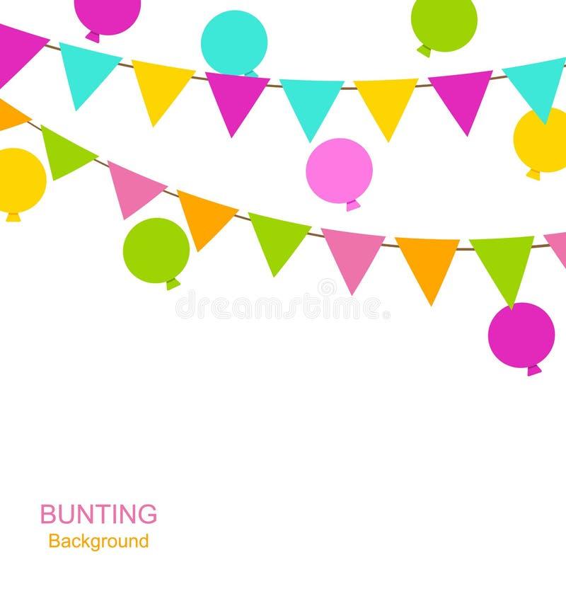 Buntings sjunker standerter och sväller stock illustrationer