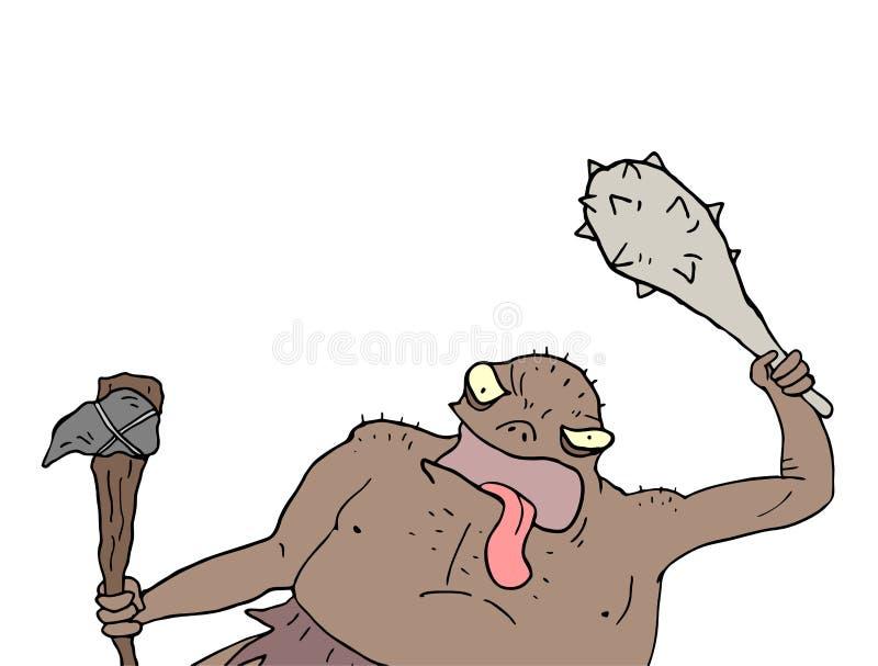 Buntowniczy mutanta remis ilustracja wektor