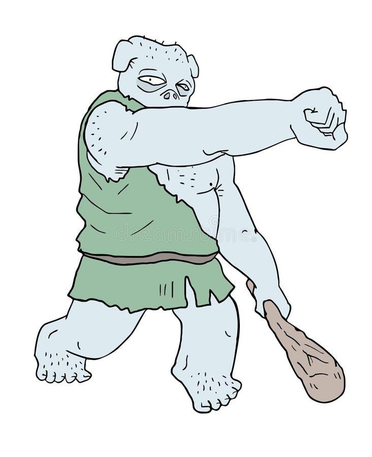 Buntowniczy potwór ilustracji