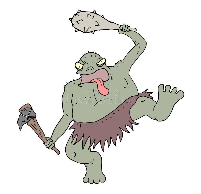 Buntowniczy potwora remis royalty ilustracja