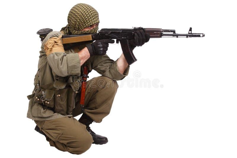 Buntownik z AK 47 zdjęcia royalty free