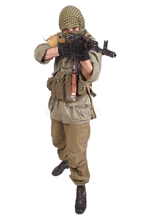 Buntownik z AK 47 obraz royalty free
