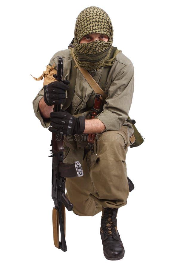 Buntownik z AK 47 zdjęcie stock