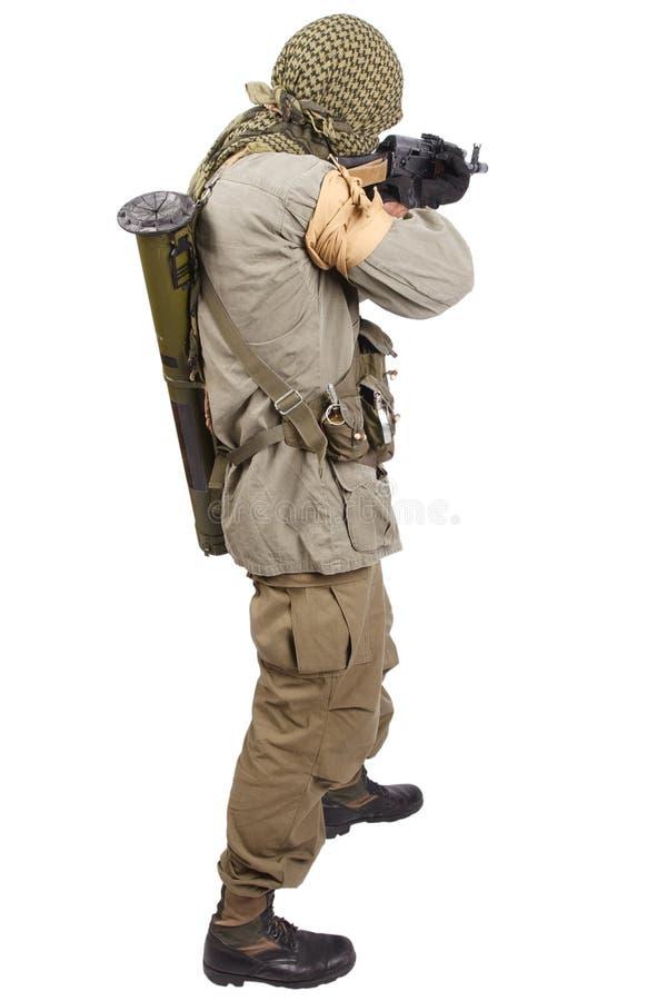Buntownik z AK 47 fotografia stock