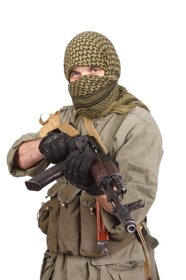 Buntownik z AK 47 obrazy stock