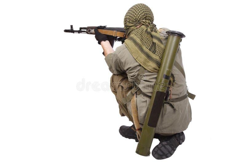 Buntownik z AK 47 obrazy royalty free